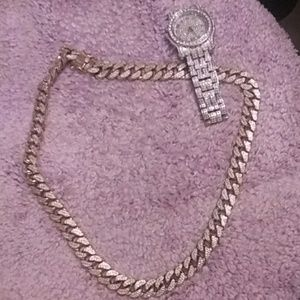 24k necklace 12k watch